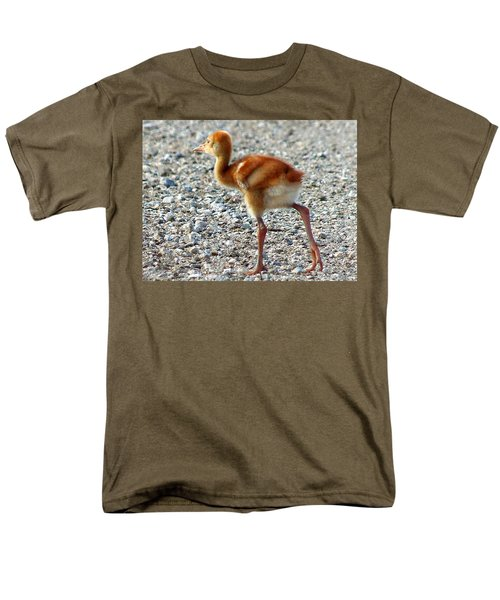 Men's T-Shirt  (Regular Fit) featuring the photograph Sandhill Crane Chick 003 by Chris Mercer