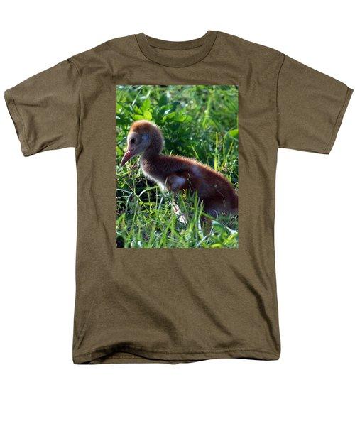 Sandhill Crane Chick 087  Men's T-Shirt  (Regular Fit) by Chris Mercer