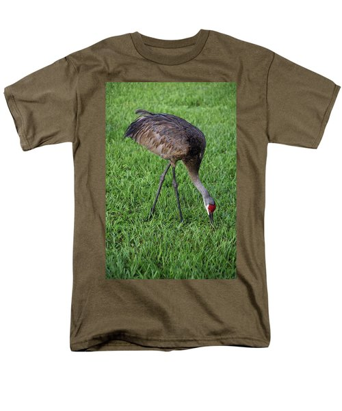 Men's T-Shirt  (Regular Fit) featuring the photograph Sandhill Crane II by Richard Rizzo