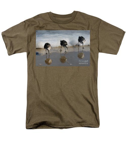 Sandpipers Feeding Men's T-Shirt  (Regular Fit) by Dan Friend