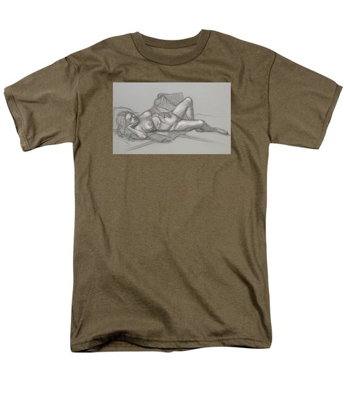 Men's T-Shirt  (Regular Fit) featuring the drawing Sandra Sleepimg by Donelli  DiMaria