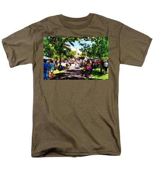 Santa Fe New Mexico Men's T-Shirt  (Regular Fit) by Joseph Frank Baraba