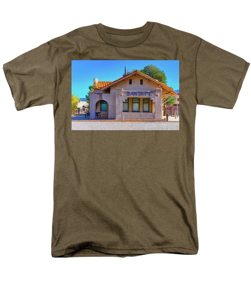 Men's T-Shirt  (Regular Fit) featuring the photograph Santa Fe Station by Stephen Anderson