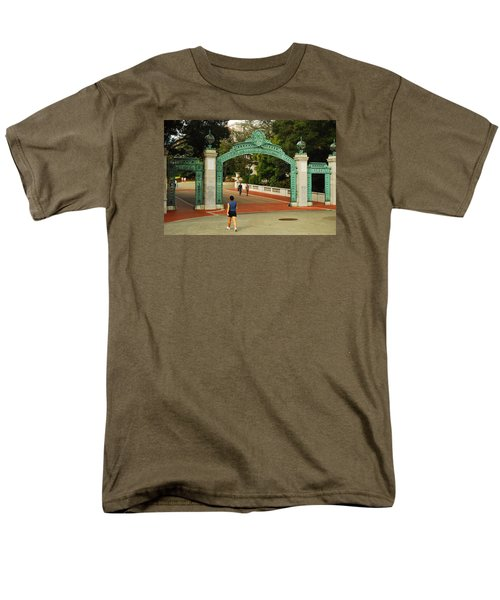 Men's T-Shirt  (Regular Fit) featuring the photograph Sather Gate Berkeley by James Kirkikis
