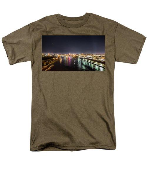 Savannah Georgia Skyline Men's T-Shirt  (Regular Fit) by Robert Loe