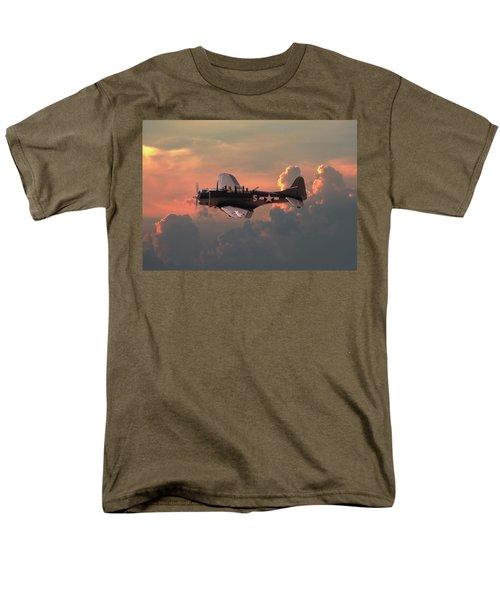 Men's T-Shirt  (Regular Fit) featuring the digital art  Sbd - Dauntless by Pat Speirs