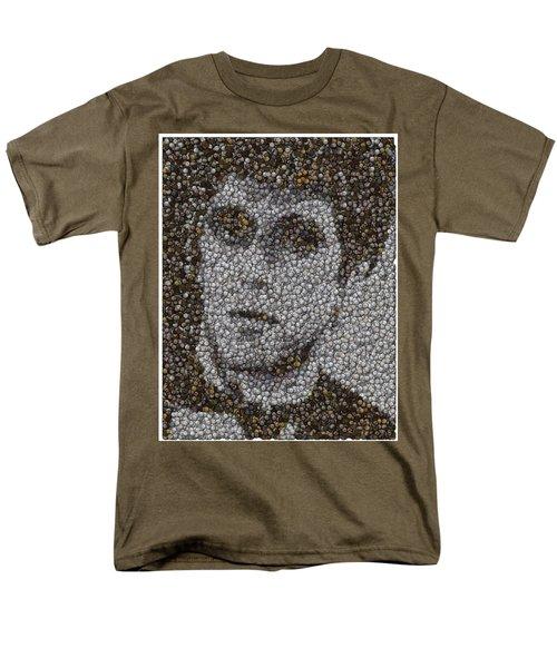 Men's T-Shirt  (Regular Fit) featuring the mixed media Scarface Coins Mosaic by Paul Van Scott