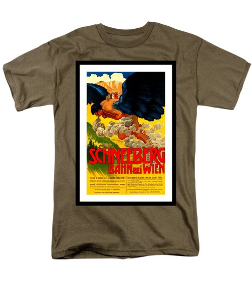 Schneeberg Bahn Bei Wien Railway Austria 1905 Men's T-Shirt  (Regular Fit) by Peter Gumaer Ogden Collection