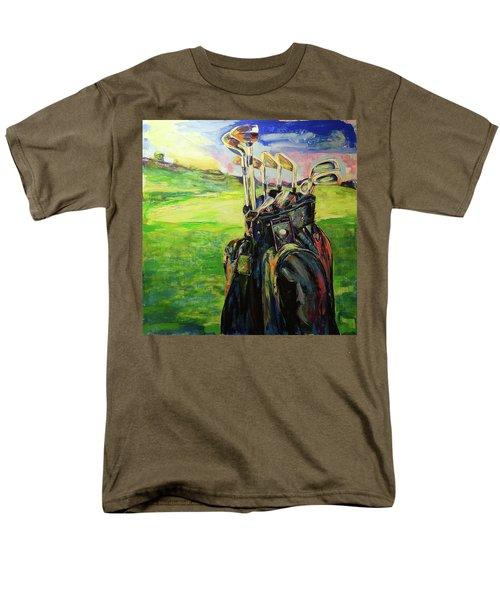 Schwarze Golftasche  Black Golf Bag Men's T-Shirt  (Regular Fit) by Koro Arandia
