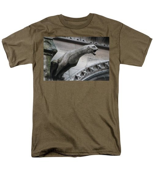 Men's T-Shirt  (Regular Fit) featuring the photograph Screaming Griffon Notre Dame Paris by Christopher Kirby
