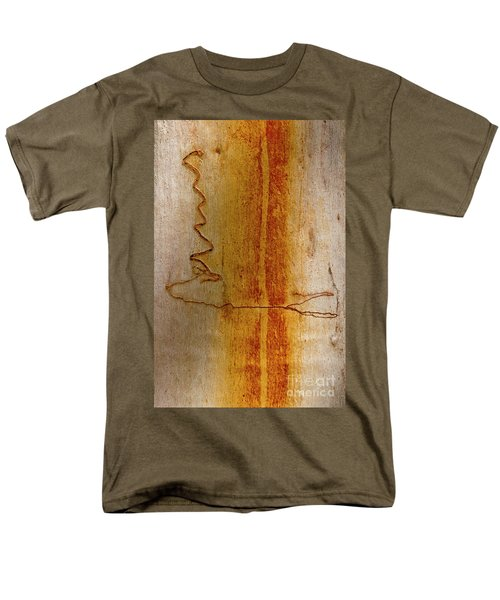 Men's T-Shirt  (Regular Fit) featuring the photograph Scribbly Gum Bark by Werner Padarin