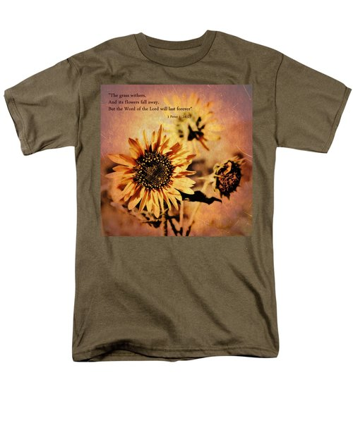 Scripture - 1 Peter One 24-25 Men's T-Shirt  (Regular Fit) by Glenn McCarthy Art and Photography