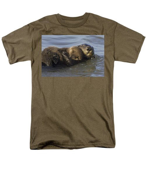 Sea Otter Mother With Pup Monterey Bay Men's T-Shirt  (Regular Fit) by Suzi Eszterhas