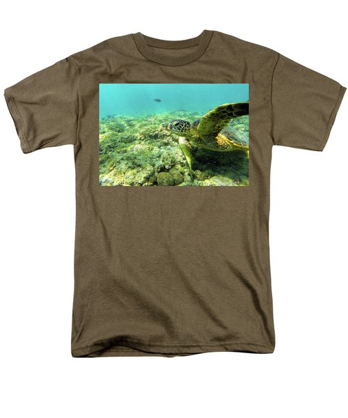 Men's T-Shirt  (Regular Fit) featuring the photograph Sea Turtle #2 by Anthony Jones