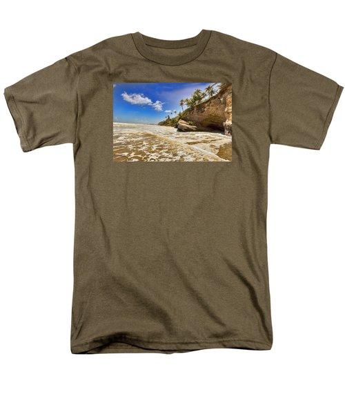 Sea Waves Men's T-Shirt  (Regular Fit) by Nadia Sanowar