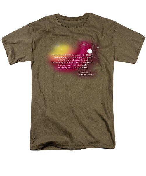 Searching For A Circuit Breaker Men's T-Shirt  (Regular Fit) by Paulette B Wright