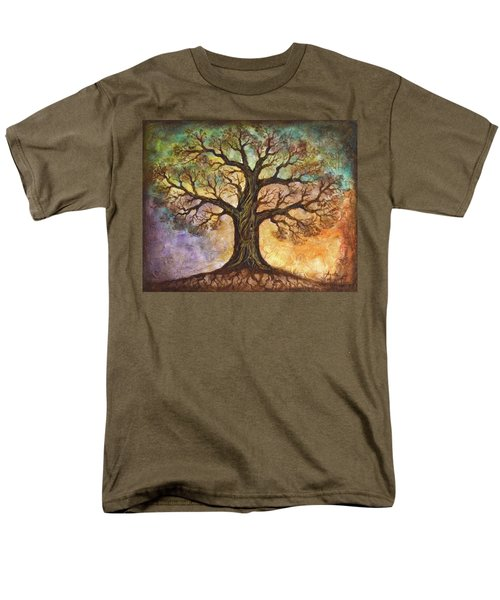 Men's T-Shirt  (Regular Fit) featuring the painting Seasons Of Life by Agata Lindquist