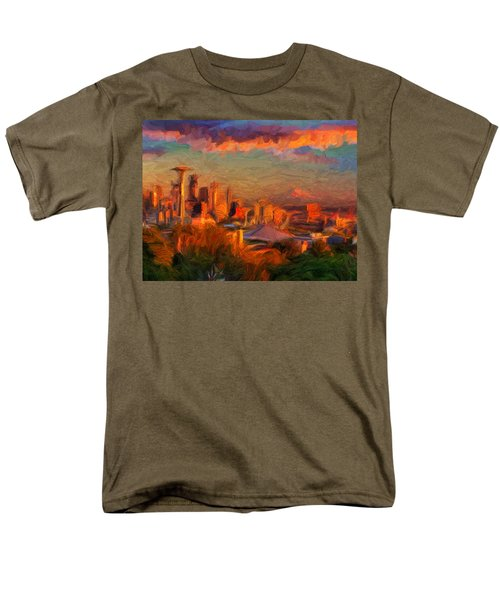 Seattle Sunset 1 Men's T-Shirt  (Regular Fit) by Caito Junqueira