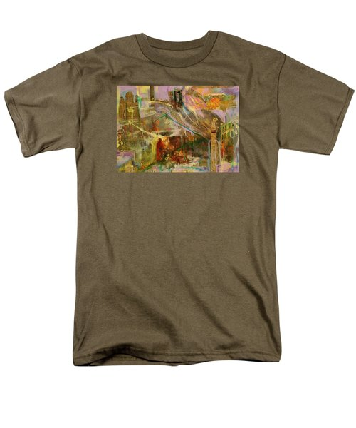 Men's T-Shirt  (Regular Fit) featuring the mixed media Secrets by Mary Schiros