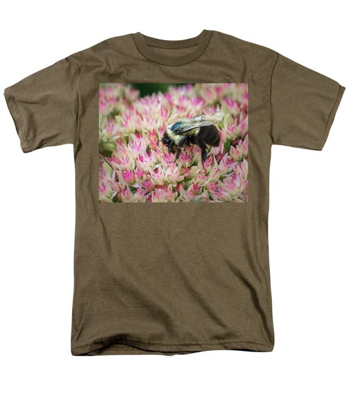 Men's T-Shirt  (Regular Fit) featuring the photograph Sedum Bumbler by Bill Pevlor