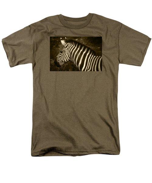 Sepia Zebra Men's T-Shirt  (Regular Fit) by Greg Slocum