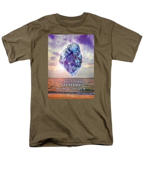 September Birthstone Sapphire Men's T-Shirt  (Regular Fit)