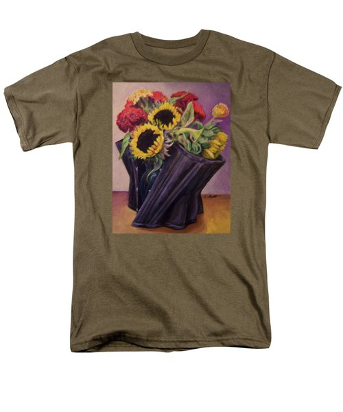 Men's T-Shirt  (Regular Fit) featuring the painting September Cincher by Laura Aceto