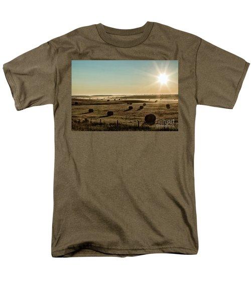 Men's T-Shirt  (Regular Fit) featuring the photograph September Hay by Brad Allen Fine Art