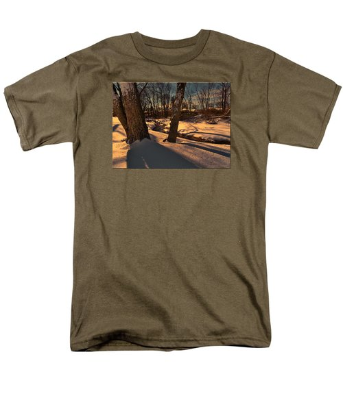 Setting Sun On A Winters Day Men's T-Shirt  (Regular Fit) by Mikki Cucuzzo