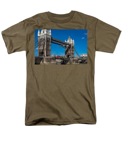 Men's T-Shirt  (Regular Fit) featuring the photograph Seven Seconds - The Tower Bridge Hawker Hunter Incident  by Gary Eason