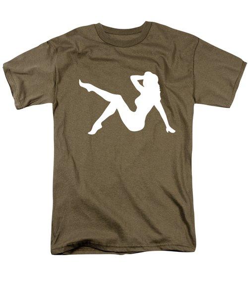 Sexy Trucker Girl White Tee Men's T-Shirt  (Regular Fit)