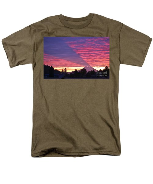 Men's T-Shirt  (Regular Fit) featuring the photograph Shadow Of Mount Rainier by Sean Griffin