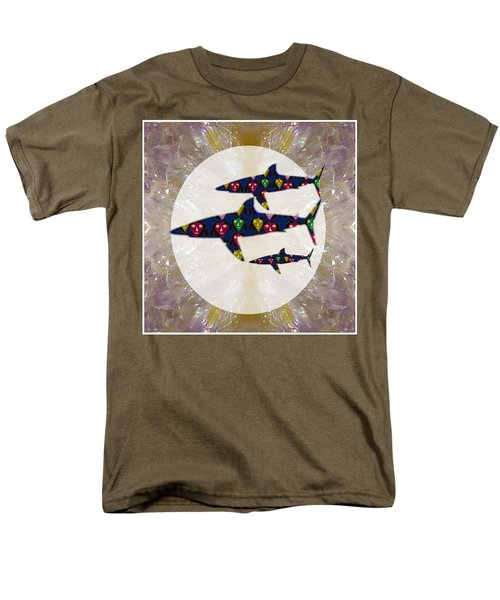 Shark Fish Dangerous Painted Cartoon Face Link For Download Option Below Personal N Commercial Uses Men's T-Shirt  (Regular Fit) by Navin Joshi