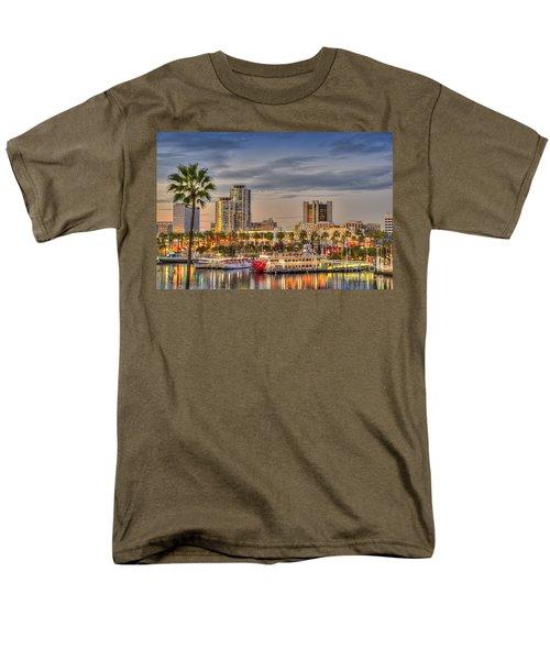Shoreline Village Rainbow Harbor Marina Men's T-Shirt  (Regular Fit) by David Zanzinger