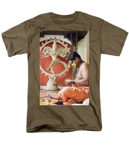 Kathakali Make-up Men's T-Shirt  (Regular Fit) by Marion Galt