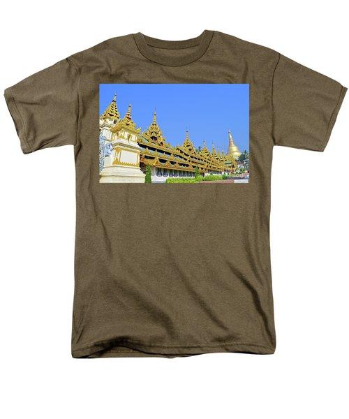 Men's T-Shirt  (Regular Fit) featuring the digital art Shwedagon Pagoda  by Eva Kaufman