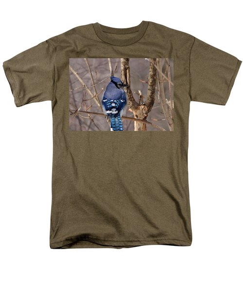 Shy Blue Jay  Men's T-Shirt  (Regular Fit) by David Porteus
