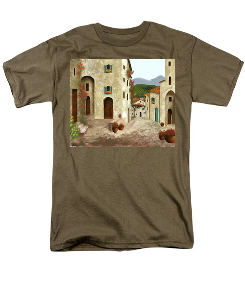 side streets of Tuscany Men's T-Shirt  (Regular Fit) by Larry Cirigliano