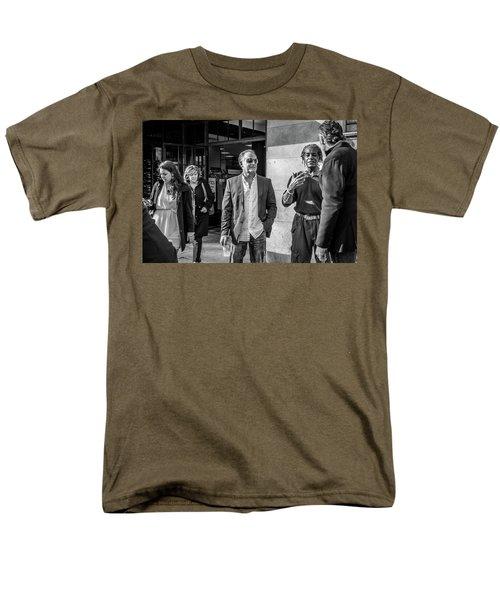 Men's T-Shirt  (Regular Fit) featuring the photograph Sidewalk Circulation by David Sutton