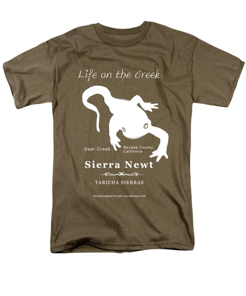 Sierra Newt - White Men's T-Shirt  (Regular Fit) by Lisa Redfern
