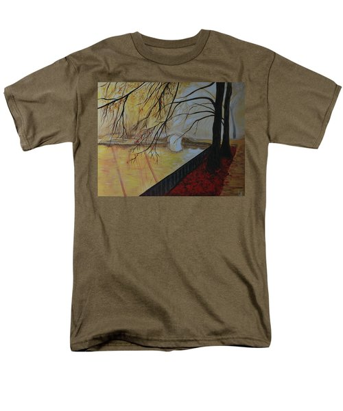 Men's T-Shirt  (Regular Fit) featuring the painting Silence by Leslie Allen