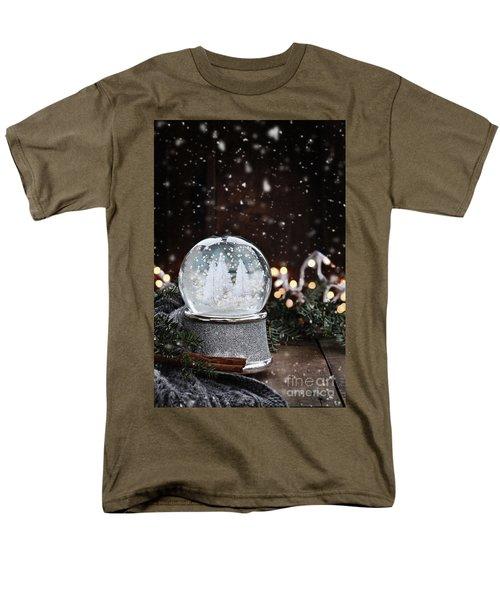Silver Snow Globe Men's T-Shirt  (Regular Fit)