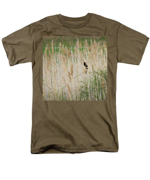 Men's T-Shirt  (Regular Fit) featuring the photograph Sing For Spring Square by Bill Wakeley