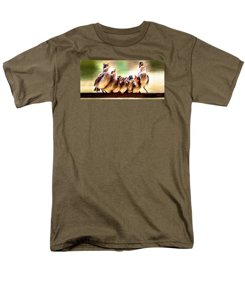 Men's T-Shirt  (Regular Fit) featuring the painting Singing For Supper by James Shepherd