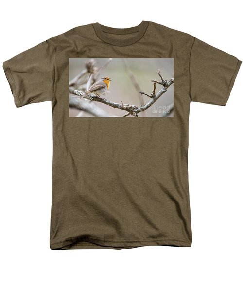 Singing Robin Men's T-Shirt  (Regular Fit) by Torbjorn Swenelius