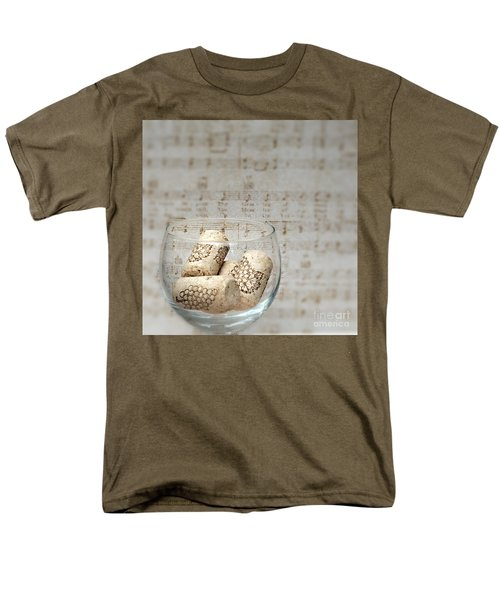 Sipping Wine While Listening To Music Men's T-Shirt  (Regular Fit) by Sherry Hallemeier