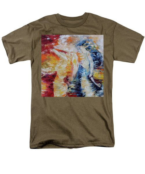 Men's T-Shirt  (Regular Fit) featuring the painting Sisters by Marat Essex