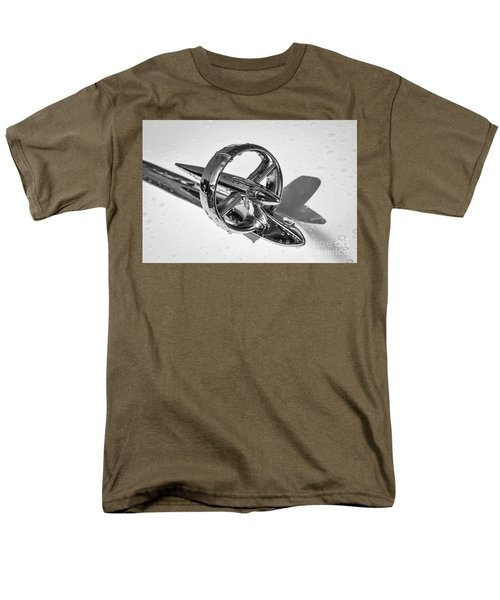 Men's T-Shirt  (Regular Fit) featuring the photograph Special Hood Ornament Monotone by Dennis Hedberg