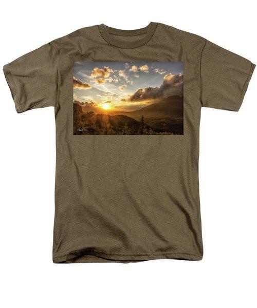 Skagit Valley Sunset Men's T-Shirt  (Regular Fit) by Charlie Duncan