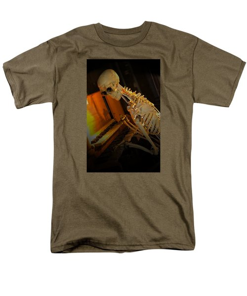 Men's T-Shirt  (Regular Fit) featuring the photograph Skeleton Musician by Bob Pardue